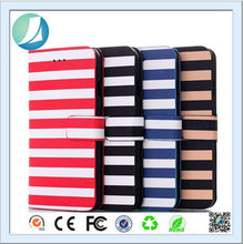 Stripe Lines Stand Leather Flip Case Cover For iphone 6