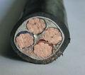 Cobre / conductor de aluminio de cuatro núcleos XLPE aisló el cable de alambre eléctrico, Cable eléctrico de alambre de 95mm2 NYY