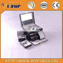 Muliti function paper jewelry box with hardware