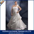 desejável um ombro floor duração cetim plissado designer vestido de casamento grávidas