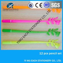 hot sales fashion Flower shape design novelty plastic ball pen