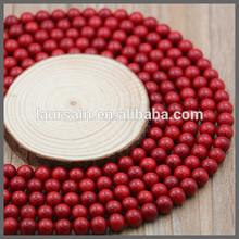 LS-J656 red coral loose bead wholesale,gemstone bead wholesale
