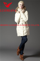 Korean style plus size mature women jacket model for winter