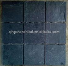 Classic black slate mosaic 9.8 chips pattern