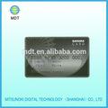 De plata del fondo del pvc en relieve tarjeta de número de la serie