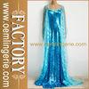 Light Blue Sequined Movie Elsa Costume