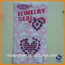 Flashing mobile phone decoration acrylic diamond cell phone sticker