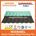 Dekoratif yapı malzemesi/taş kaplı çelik geri çekilebilir çatı levha/renkli taş kaplı metal kiremit