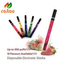 Electronic Disposable Portable E Hookah Pens Fruit Flavous Shisha 500 Puffs