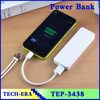 Portable Power Bank 3000mah & polymer USB External Power Supply Rechargeable Battery Power Pack Backup Charger for Phones