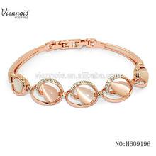 Hot sale Rose Gold Plating Bracelet with Cat Eye