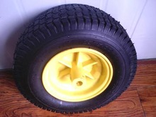 small rubber tire with plastic rim for garden carts beach carts 13x5.00-6