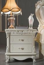 Antique design bedroom furniture wooden cabinet bedside table/nightstand
