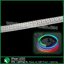 dc 5v addressable rgb ws2812b led pixel strip waterproof 144 leds/m