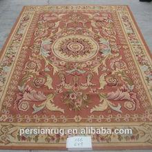 100% Wool French Handmade Aubusson Carpet