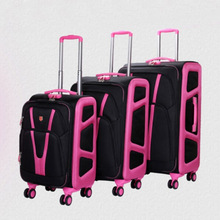 2014 High quality Oxford cloth unisex decent contrast color travel luggage