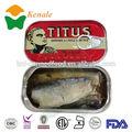 La fabrication de conserves de sardines 125g*50tins maroc exportation