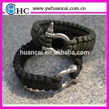 Adjustable Shackle Stainless Steel -Paracord Survival Bracelet