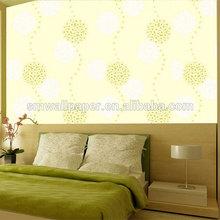 Cores quentes parede de papel fogos de artifício projeto flor dente de leão bola vinil papel de parede para paredes do