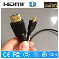 Migliore qualità 3d micro cavo hdmi 1080p/acquisto cavo hdmi online