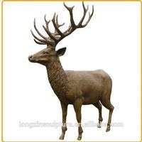 Large Life Size Metal Resin Garden Animal Deer Statues for Sale