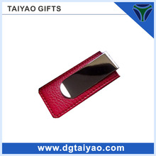 hotted sale fancy magnet leather money clip wallet