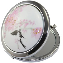 Pouch Metal Compact Mirror Unisex Flexible Size Antique Immitation Customized Logo China Factory Silver Plated