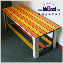 HPL compact laminate locker bench