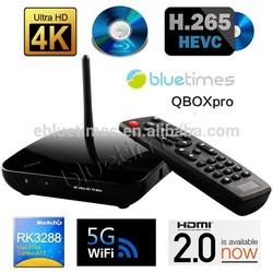 Bluetimes RK3288 Android 4.4 Quad Core Cortex A17 1.8GHz TV BOX 4K x 2K HDMI2.0 Media Player 2G/8G Bluetooth4.0 5G Wifi