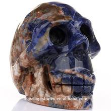 Blue Sodalite Skull Decorative Head Skull