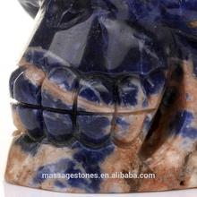 Custom Blue Sodalite Skull Decorative Skull Head with Exw price