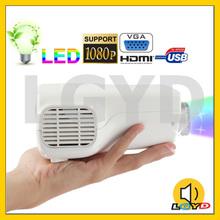 50 Lumens Portable Mini Multi-media LED Projector, Support HDMI / VGA / USB / TF Card / AV In Multiple Interface