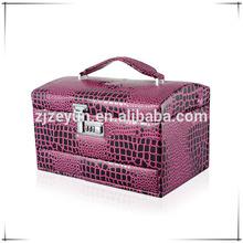 makeup tool metal document cases beautiful cosmetic bag