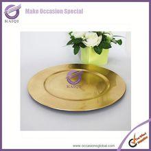 20874 gold eco-friendly disposable Decorative Plastic Decorative Wholesale Charger Plates