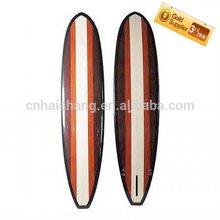 2014 vendita calda colore misto di bambù venner di alta qualità paddleboard/tondo naso longboard bambù bordo