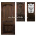 Impermeável exterior da porta de madeira feita de fibra de vidro da porta smc-006