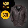 Super qualidade de couro personalizado casacos de pele de ovelha homens