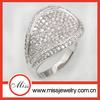 CZ gemstone men rings 925 silver jewelry