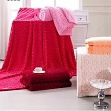 2014 Xinbo multifunction 3D Rose Flowers plush super soft coral fleece blanket
