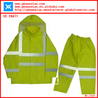 high visibility safety pvc raincoat comply with EN471