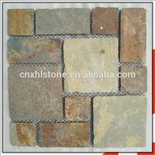 Rectangle Culture Slate Stone Pebble Tile