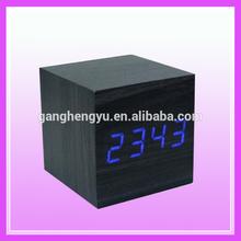 Mini White led digital antique wooden clock