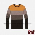 100% Merino Wool Knitwear Fashion Design Stripes Pullover Sweater for Men