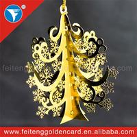 Beautiful Snowflake Decorative Xmas Tree Ornaments New Idea Customized Metal Ornament for Christmas