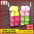 Household essentials sapato rack de aço inoxidável girar sapateira
