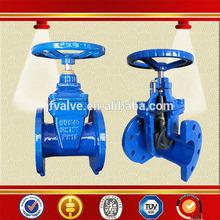 cast iron chain wheel din rising stem gate valve