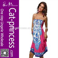 2014 plus size prink printed floral bohemian style maxi dresses