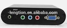 1080P HDMI to RGB / Component Video / Ypbpr VGA R/L Converter Adapter