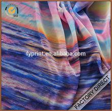 Custom digital print on drapery poly chiffon fabrics