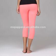 Nylon and Spandex/LYCRA womens yoga capri pants pink yoga pants